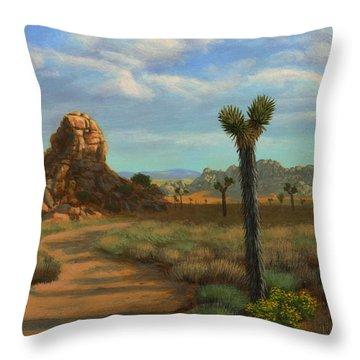 Hi Desert Road Throw Pillow