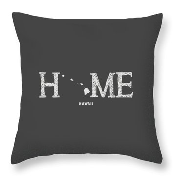 Throw Pillow featuring the mixed media Hi Home by Nancy Ingersoll