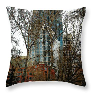 Throw Pillow featuring the digital art Hi-rise Living  by Stuart Turnbull