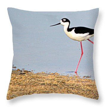 Hi-stepper Throw Pillow by AJ Schibig