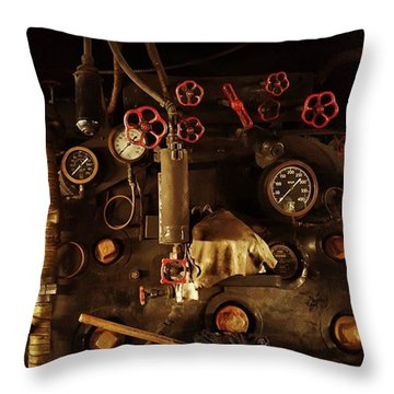 Hi-tech In The 1900s, When Steam Throw Pillow