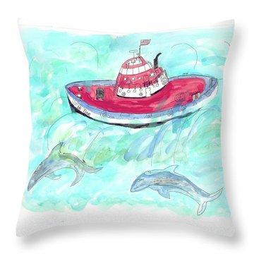 Hi Tide Throw Pillow
