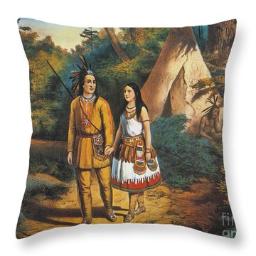 Hiawathas Wedding Throw Pillow by Granger