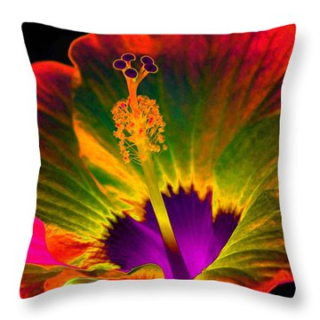 Hibiscus 01 - Summer's End - Photopower 3189 Throw Pillow