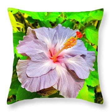 Hibiscus Adele 1 Throw Pillow