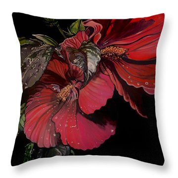 Hibiscus After The Rain Throw Pillow