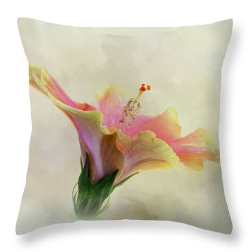 Hibiscus Art Throw Pillow