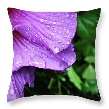 Hibiscus Corner Throw Pillow