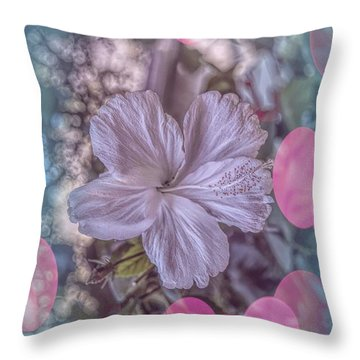 Throw Pillow featuring the photograph Hibiscus by Elaine Teague