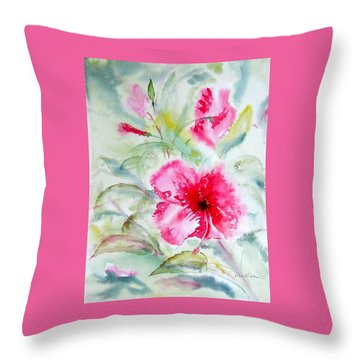 Hibiscus Fantasy Throw Pillow