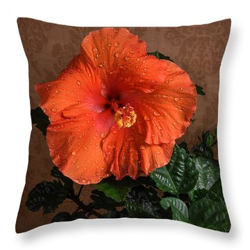 Hibiscus Fine Art Throw Pillow