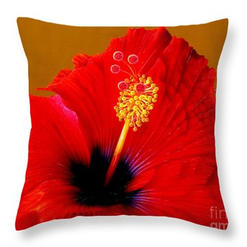 Hibiscus Throw Pillow by Jurek Zamoyski