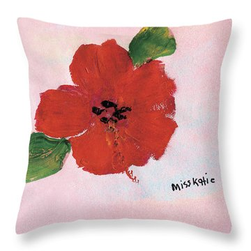Hibiscus Throw Pillow by Katie OBrien - Printscapes