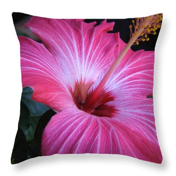 Hibiscus Photograph Throw Pillow