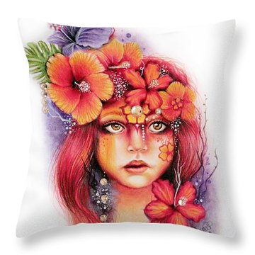 Hibiscus Throw Pillow by Sheena Pike