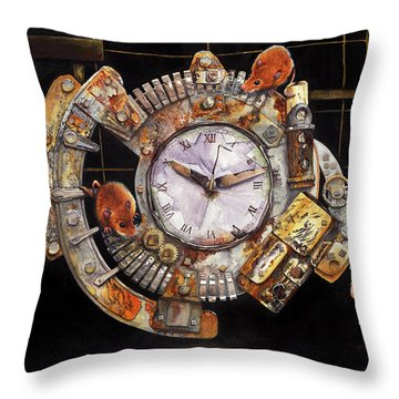 Hickory Dickory Dock Throw Pillow