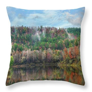 Hickory Forest Throw Pillow by Tim Fitzharris