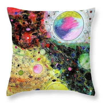 Hidden Aliens Throw Pillow