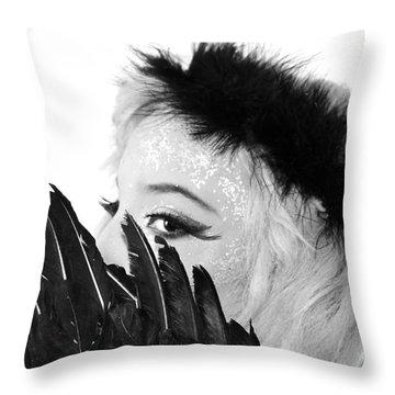 Hidden Angel Throw Pillow