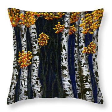 Hidden Autumn  Throw Pillow by Rebecca Parker