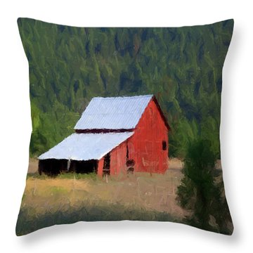 Throw Pillow featuring the painting Hidden Away P D P by David Dehner