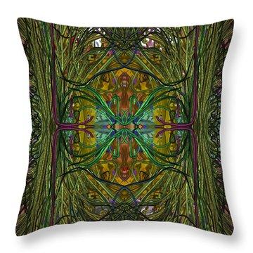 Throw Pillow featuring the digital art Hidden Aztec Temple by Reed Novotny