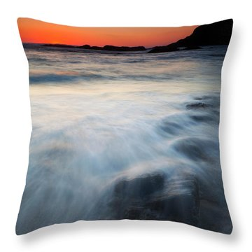 Hidden Beneath The Tides Throw Pillow by Mike  Dawson