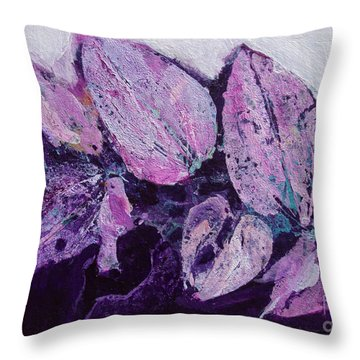 Hidden Birds Throw Pillow by Diane Ursin