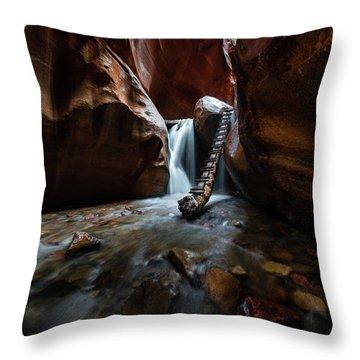 Hidden Canyon Throw Pillow