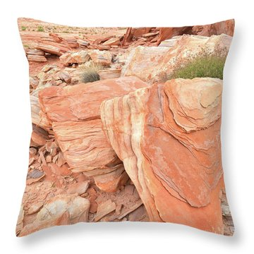 Throw Pillow featuring the photograph Hidden Cove In Valley Of Fire by Ray Mathis