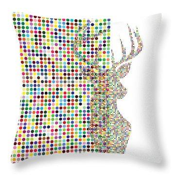 Hidden Deer Throw Pillow