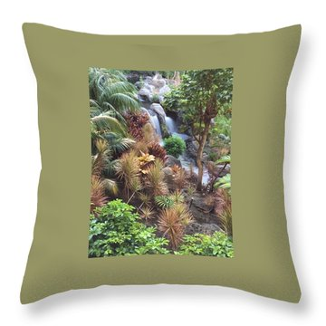 Hidden Falls Throw Pillow by Russell Keating