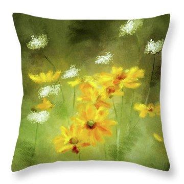 Throw Pillow featuring the digital art Hidden Gems by Lois Bryan