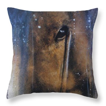 Hidden Horse Throw Pillow