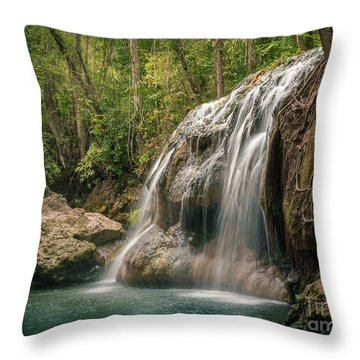 Throw Pillow featuring the photograph Hidden In The Jungle Of Guatemala by Jola Martysz