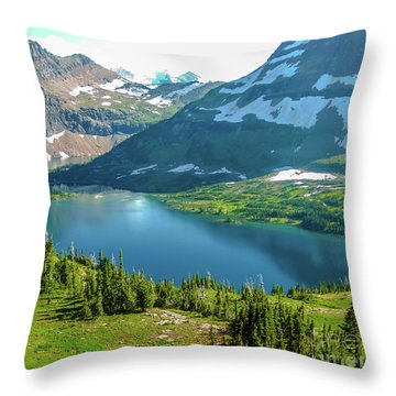 Hidden Lake Glacier National Park Throw Pillow
