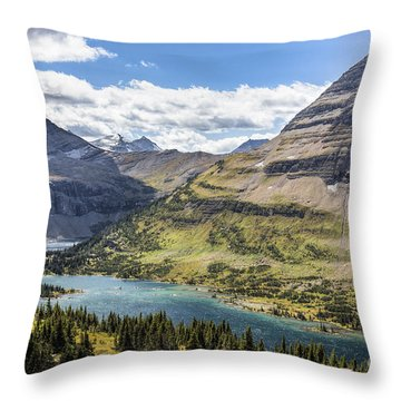 Hidden Lake Overlook Throw Pillow