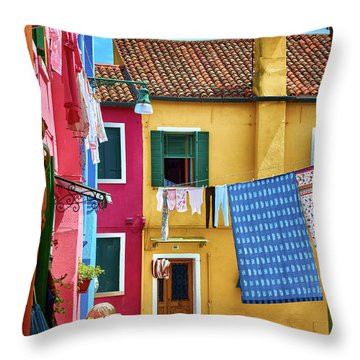 Hidden Magical Alley Throw Pillow