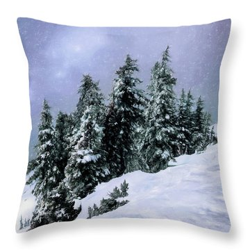 Hidden Peak Throw Pillow