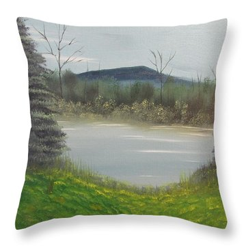 Hidden Pond  Throw Pillow