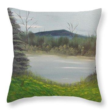 Hidden Pond  Throw Pillow by Thomas Janos