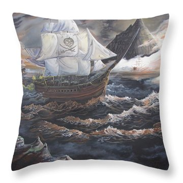 Hidden Skull Cove Throw Pillow by Kevin F Heuman