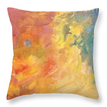 Hidden Smile Throw Pillow