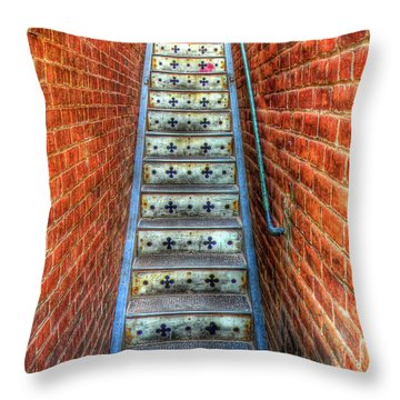 Hidden Stairway In Old Bisbee Arizona Throw Pillow