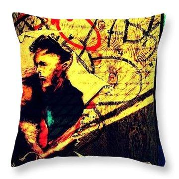 Hidden Stranger Throw Pillow