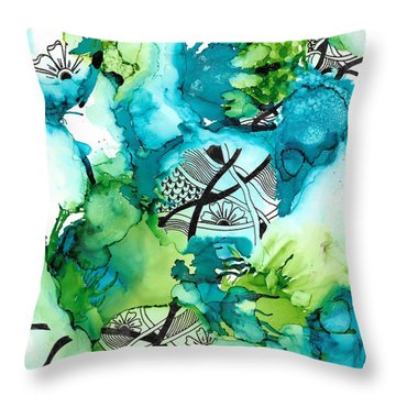 Hidden Treasure Throw Pillow by Jan Steinle