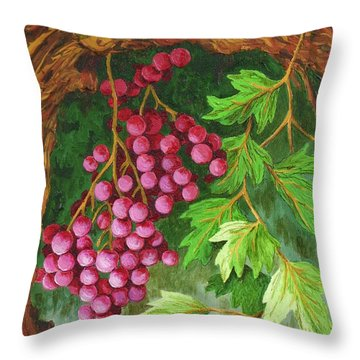 Throw Pillow featuring the painting Hidden Treasure by Katherine Young-Beck