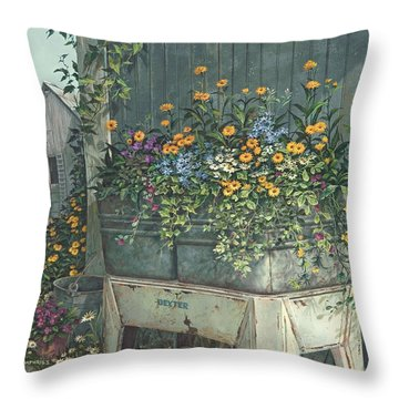 Hidden Treasures Throw Pillow by Michael Humphries