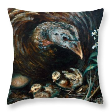 Throw Pillow featuring the painting Hidden Treasures by Suzanne McKee