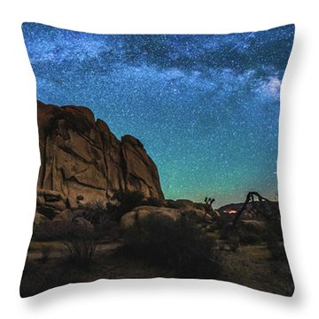 Hidden Valley Milky Way Panorama Throw Pillow